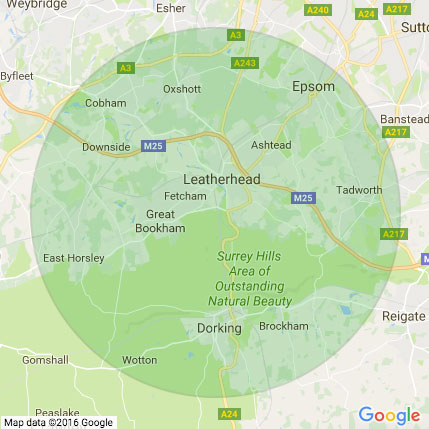 Areas Covered by our mobile vet Surrey